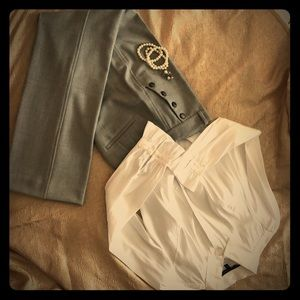 Gray high waist Trousers